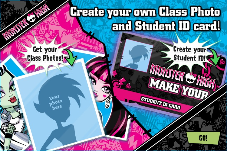 Create your own Class Photo and Student ID card! | Monster High ...