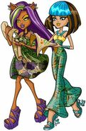 Profile art - SS Clawdeen and Cleo