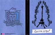 Scaris City of Frights - cover Catrine booklet