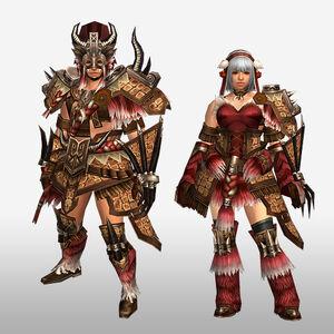 FrontierGen-Gogo Armor (Gunner) (Front) Render