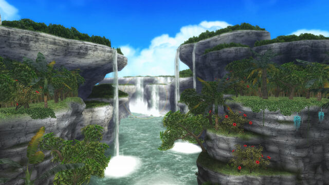 File:FrontierGen-Painted Waterfalls Screenshot 001.jpg