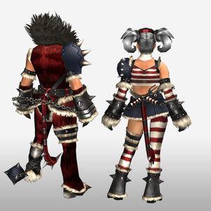 FrontierGen-Ukon Armor (Both) (Back) Render