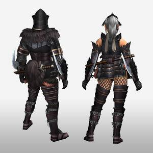 FrontierGen-Kokuei G Armor (Blademaster) (Back) Render