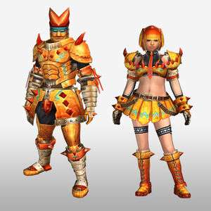 FrontierGen-Zamuza Armor (Blademaster) (Front) Render