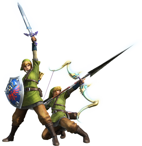 File:MH4-Sword and Shield and Bow Equipment Render 001.png