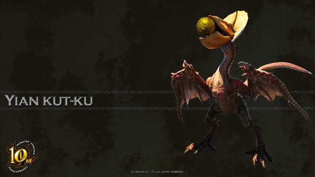 File:MH 10th Anniversary-Yian Kut-Ku Wallpaper 001.jpg
