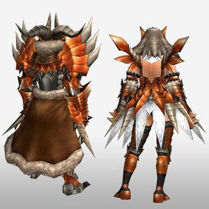 FrontierGen-Buraito Armor (Both) (Back) Render