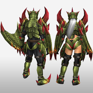 FrontierGen-Reiji Armor (Both) (Back) Render
