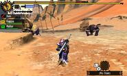 MH4U-Rajang and Plum Daimyo Hermitaur Screenshot 001