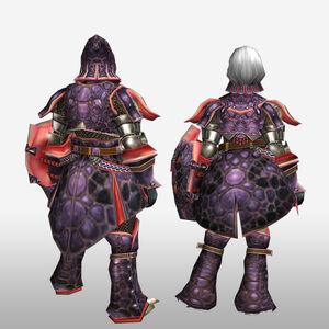 FrontierGen-Okami Armor (Gunner) (Back) Render