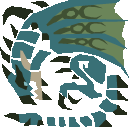 File:MH10th-Azure Rathalos Icon.png