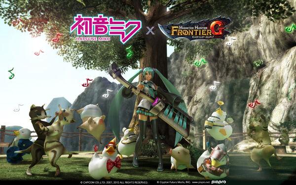 FrontierGen-Hatsune Miku x MHF-G Wallpaper 001