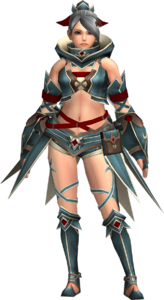 FrontierGen-Gania Armor (Female) (Both) (Front) Render 002