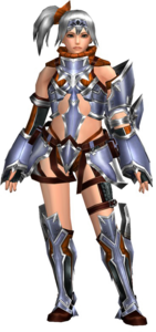 FrontierGen-Perifu Armor (Female) (Both) (Front) Render 002