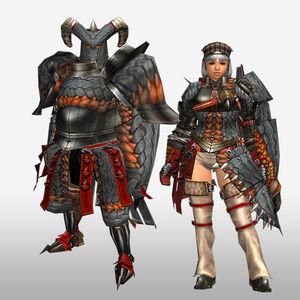 FrontierGen-Geryosu G Armor (Gunner) (Front) Render