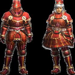 MH4U-Kaiser Armor (Blademaster) Render 001