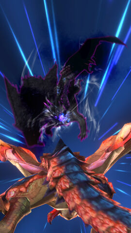 File:MHSP-Frenzied Gore Magala and Rathalos Screenshot 001.jpg