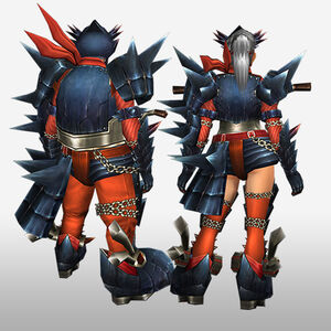 FrontierGen-Guren G Armor (Gunner) (Back) Render