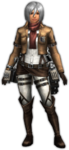 FrontierGen-Survey Corps Armor (Female) (Both) (Front) Render