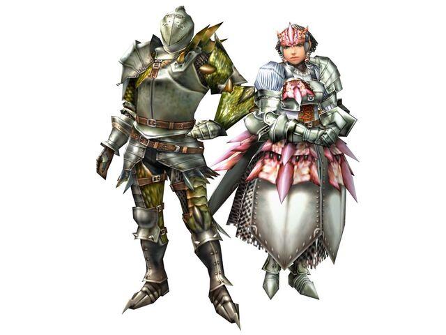 File:FrontierGen-Rathian LX Armor (Male) and Rathian Heart RX Armor (Female) (Blademaster) Render 2.jpg
