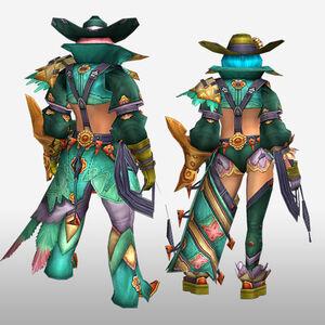FrontierGen-Furoru Armor (Gunner) (Back) Render