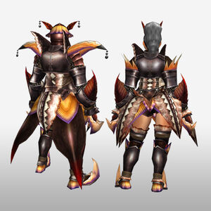 FrontierGen-Diboa Armor (Blademaster) (Back) Render