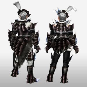 FrontierGen-Akura Armor 001 (Blademaster) (Back) Render