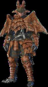 MHO-Sandstone Basarios Armor (Blademaster) (Male) Render 001