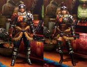MH4U-Hunter's Armor (Blademaster) Render 001