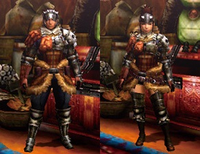 MH4U-Hunter's Armor (Blademaster) Render 001
