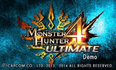 MH4U-Demo Title Screen