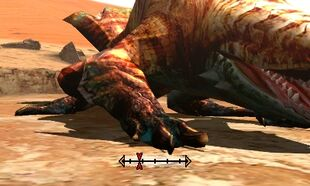 MH4U-Tigerstripe Zamtrios Right Leg Break 002