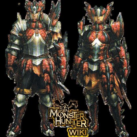 File:MH3-Rathalos Armor (Gunner) Render.png
