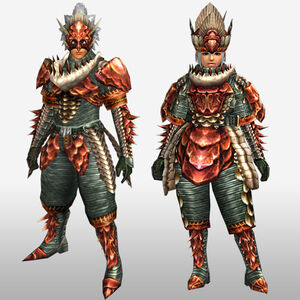 FrontierGen-Lava U Armor (Blademaster) (Front) Render