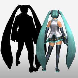 FrontierGen-Miku Armor (Both) (Back) Render