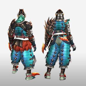FrontierGen-Tamamo Armor (Gunner) (Back) Render