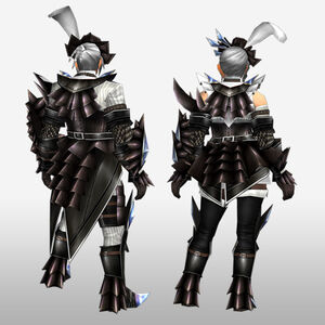 FrontierGen-Akura Armor 001 (Gunner) (Back) Render