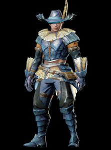 MHO-Blue Kut-Ku Armor (Blademaster) (Male) Render 001
