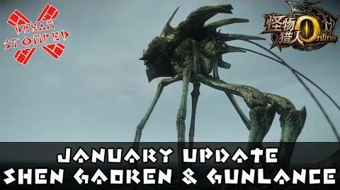Monster Hunter Online - January Update featuring Shen Gaoren and Gunlances