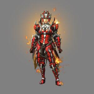 MHXR-Sorufurea Armor (Blademaster) (Female) Render 001