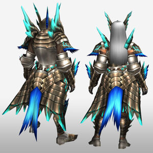 FrontierGen-Shourou G Armor (Blademaster) (Gunner) (Back) Render