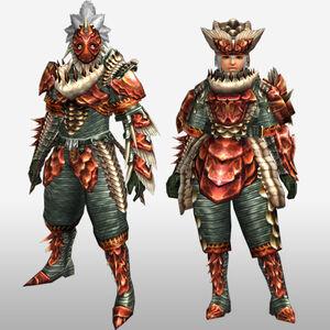 FrontierGen-Lava U Armor (Gunner) (Front) Render