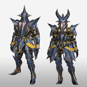 FrontierGen-Gizami G Armor (Blademaster) (Front) Render