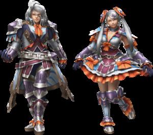 FrontierGen-Kurofi Armor (Both) Render 2