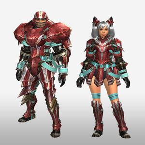 FrontierGen-Zazami G Armor (Blademaster) (Front) Render