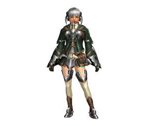 FrontierGen-Bande Armor (Female) (Both) (Front) Render 003