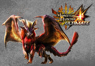 MH4U-Teostra Wallpaper 001