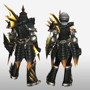 FrontierGen-Ruko Armor (Gunner) (Back) Render