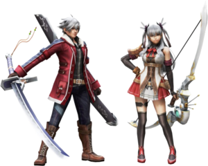 FrontierGen-Carmine Armor (Male) and Sagitario Armor (Female) (Both) Render 001