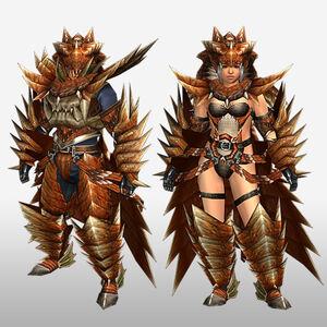 FrontierGen-Lavi Armor (Blademaster) (Front) Render